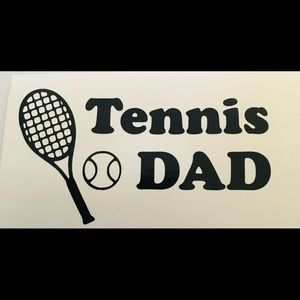 Tennis Dad vinyl decal